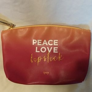 Peace Love lipstick cosmetic bag